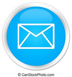 Email icon premium cyan blue round button