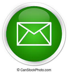 Email icon premium green round button