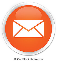 Email icon premium orange round button