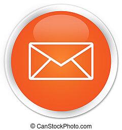 Email icon premium orange round button