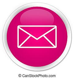 Email icon premium pink round button