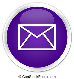 Email icon premium purple round button