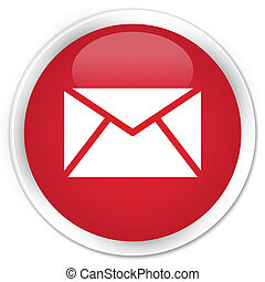 Email icon premium red round button
