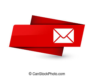 Email icon premium red tag sign