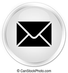 Email icon premium white round button
