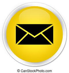 Email icon premium yellow round button
