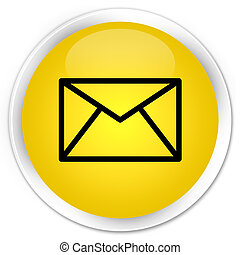 Email icon premium yellow round button