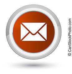 Email icon prime brown round button