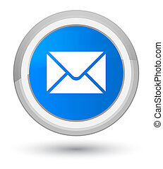 Email icon prime cyan blue round button