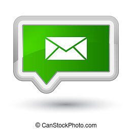 Email icon prime green banner button