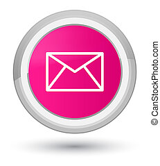 Email icon prime pink round button