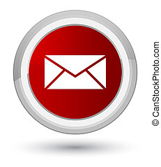 Email icon prime red round button