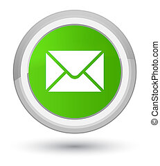 Email icon prime soft green round button