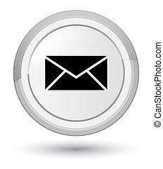 Email icon prime white round button