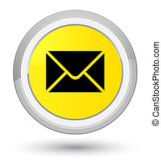 Email icon prime yellow round button