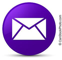 Email icon purple round button