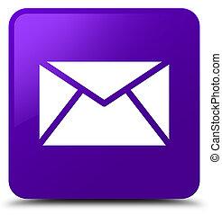 Email icon purple square button