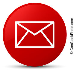 Email icon red round button