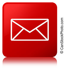 Email icon red square button