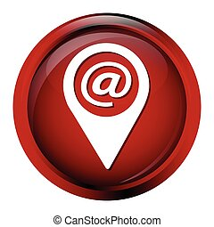 Email icon sign, email and pointer button