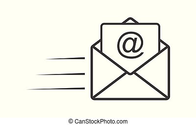 Email icon - simple flat design isolated on white background, vector