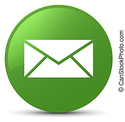 Email icon soft green round button
