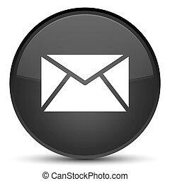 Email icon special black round button