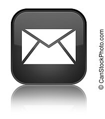 Email icon special black square button