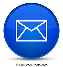 Email icon special blue round button
