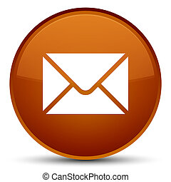 Email icon special brown round button