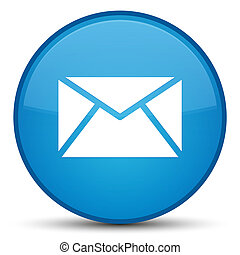 Email icon special cyan blue round button