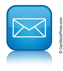 Email icon special cyan blue square button