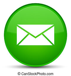 Email icon special green round button
