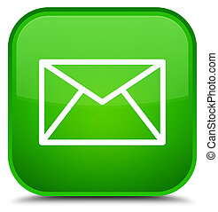 Email icon special green square button