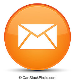Email icon special orange round button