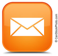 Email icon special orange square button