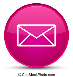 Email icon special pink round button