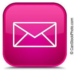 Email icon special pink square button