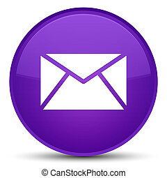 Email icon special purple round button