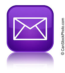 Email icon special purple square button