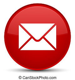 Email icon special red round button