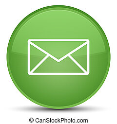 Email icon special soft green round button