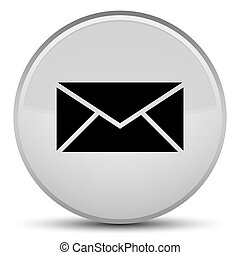 Email icon special white round button
