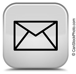 Email icon special white square button