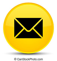 Email icon special yellow round button