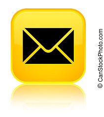 Email icon special yellow square button