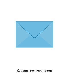 Email icon vector illustration isolated on white