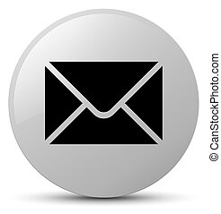 Email icon white round button