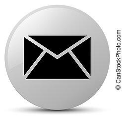 Email icon white round button
