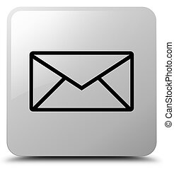 Email icon white square button